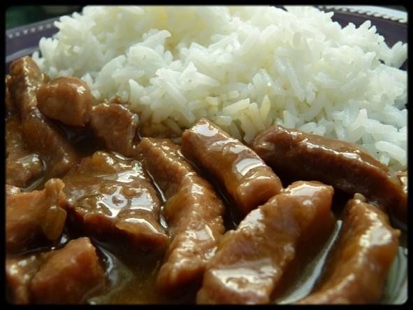 porc au caramel en wok