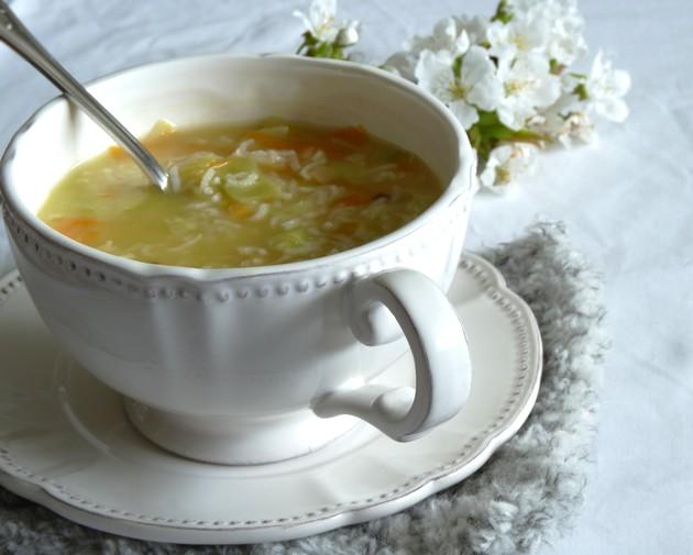 Soupe de riz légumes1