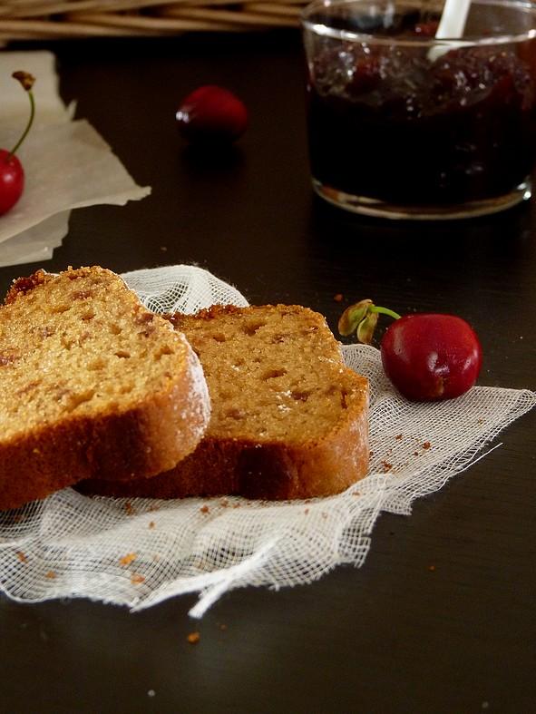 Gâteau cerises et amande2