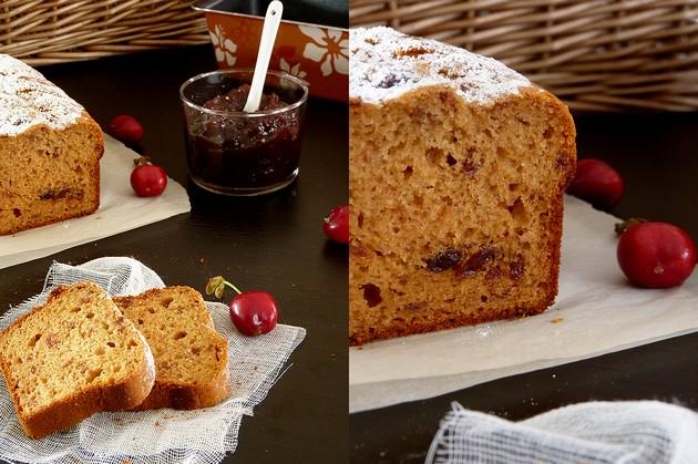 Gâteau cerises et amande4