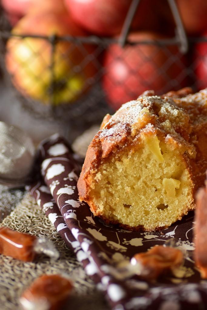 gâteau pomme caramel6
