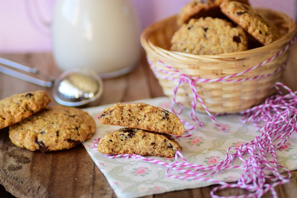 almond oatmeal cookie3