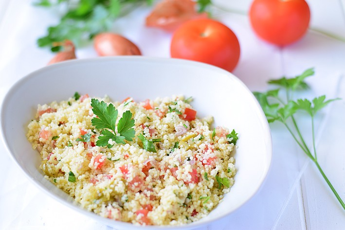 Salade semoule tomate olive1