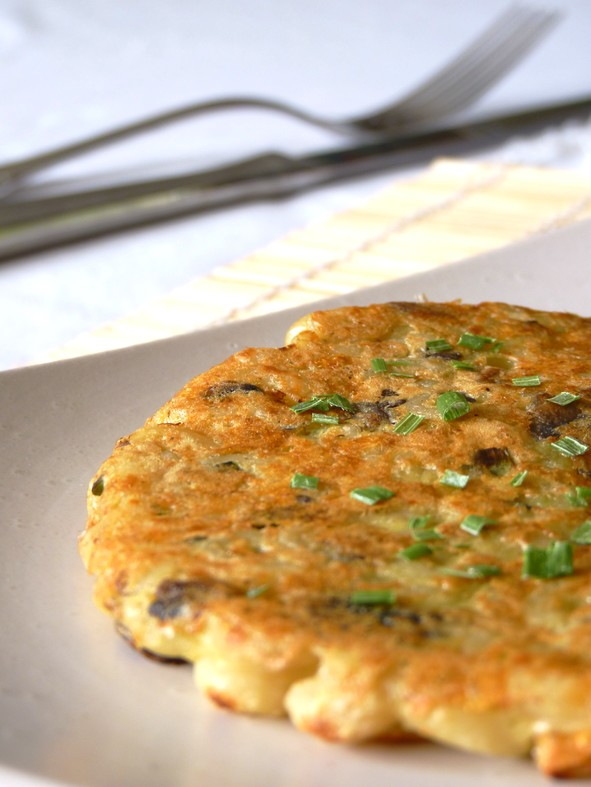 Galettes coquillettes champignons2
