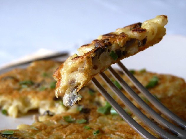 Galettes coquillettes champignons3