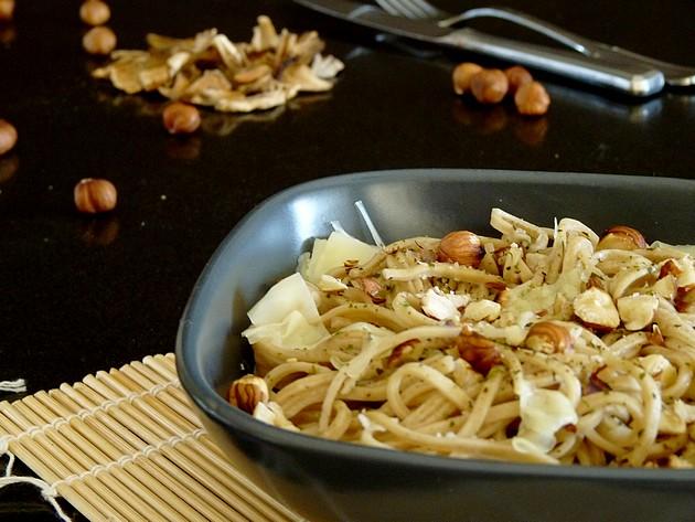 Spaghetti frais aux cèpes séchés1