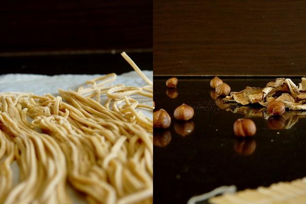 Spaghetti frais aux cèpes séchés3