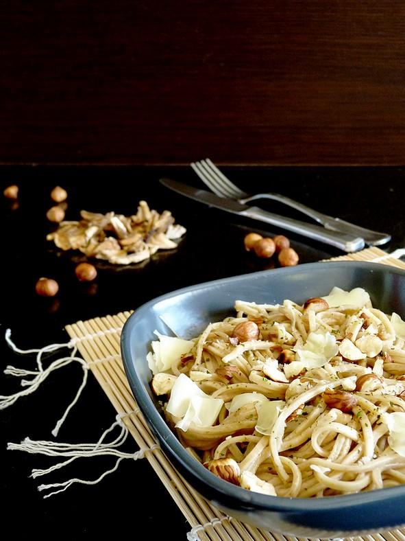 Spaghetti frais aux cèpes séchés4