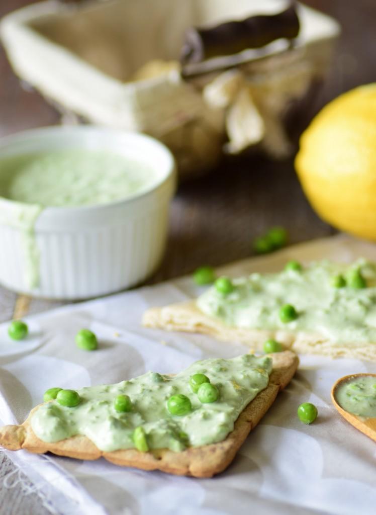 tartinade petits pois citron fromage frais5