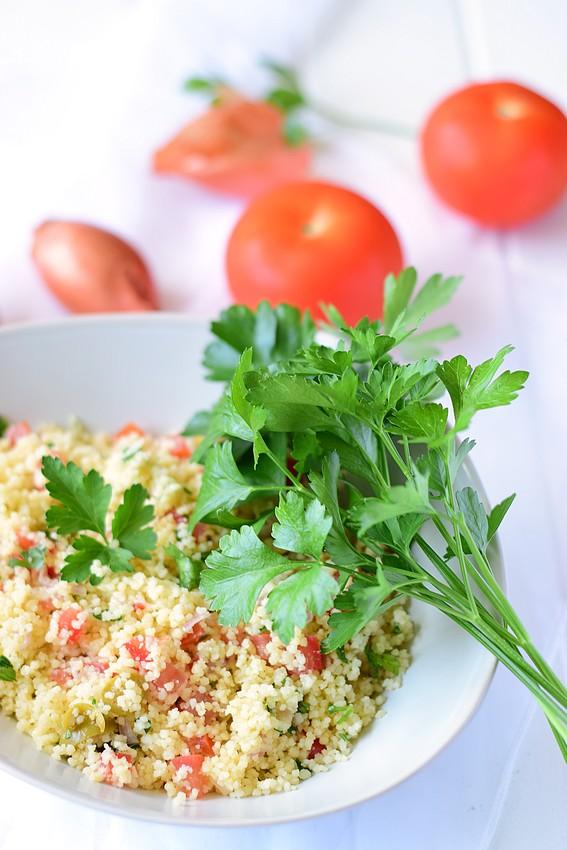 Salade semoule tomate olive4